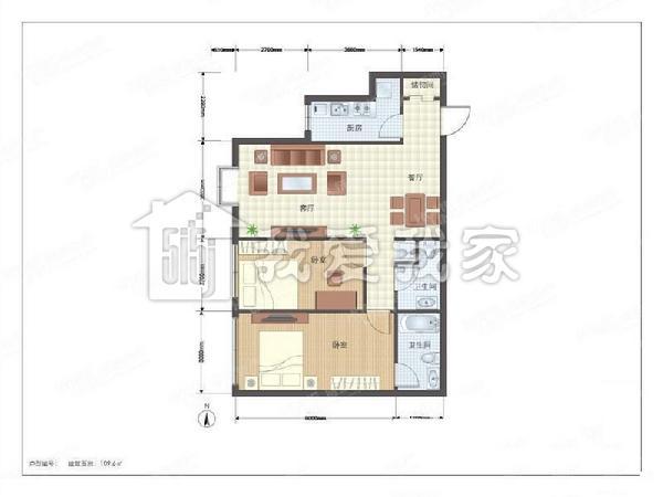 户型 朝向:西相似朝向 楼层:位于18层上部 所属小区:半岛国际公寓本