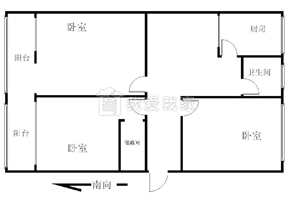 四房一厅一厨一卫设计图