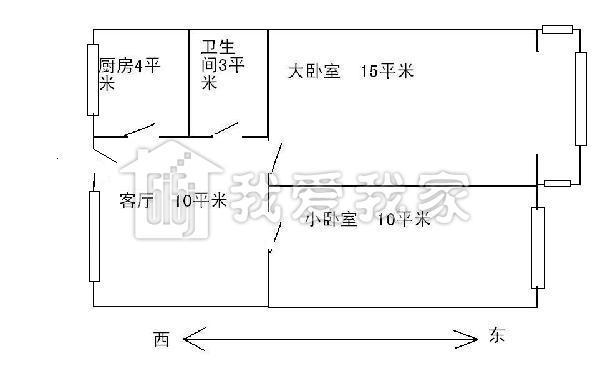 广电总局西便门小区2室1厅61平米275万