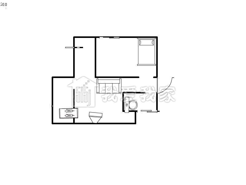 户型均价: 一居室: 2800元/月二居室