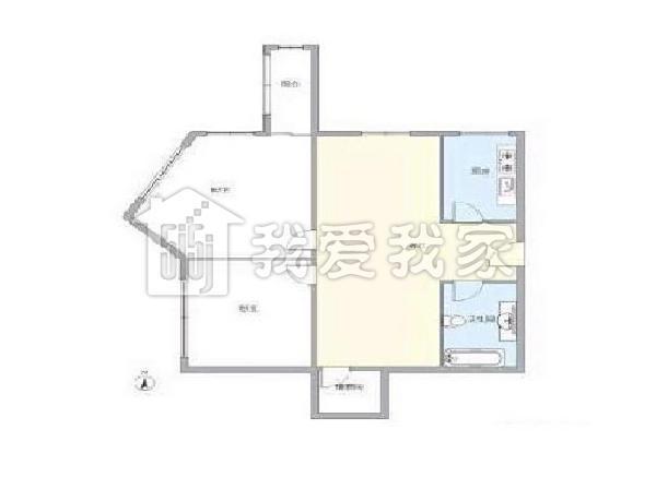 双卧朝南的房子户型图
