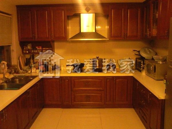 欧式橱柜包冰箱