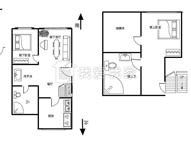 一楼店铺平面设计图商住两用五层效果图展示