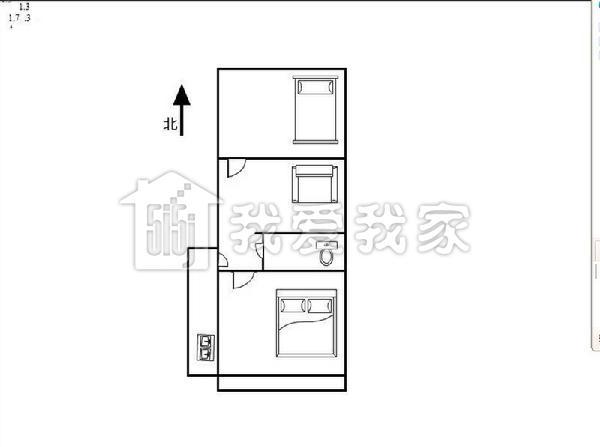 三室一厅套房设计图,120平米套房设计图, 宽600×768高 长方形小书房