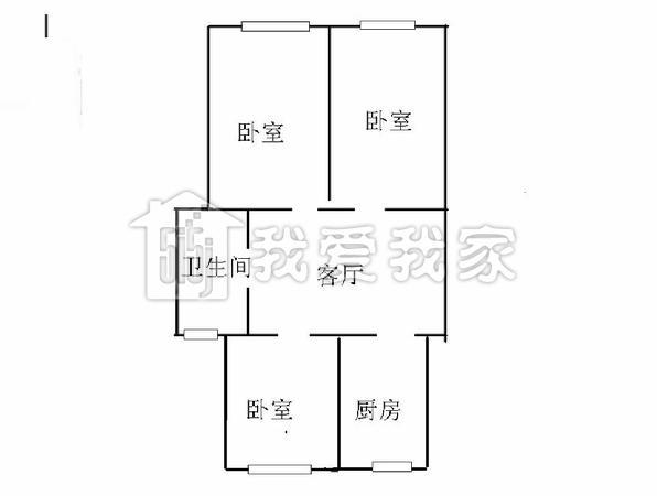 70平米三房一厅设计图