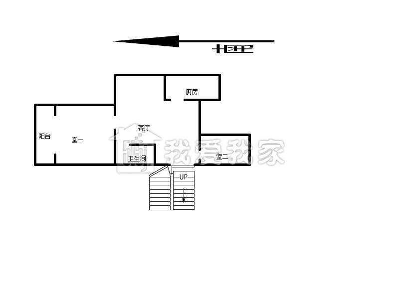 两室一厅 精装租房-我爱我家保真房正规2来
