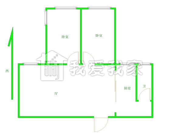 15711629918 叶双喜    房屋简介:两室一厅,精装修,两房朝南偏