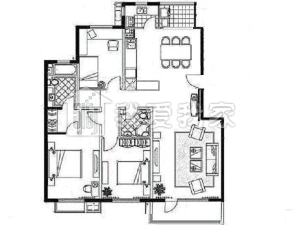 农村三间房宅基地设计图