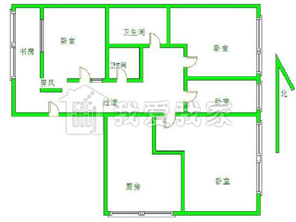 北京钓鱼台联排别墅户型图