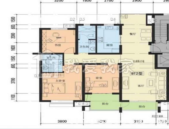 144平米的房屋设计图