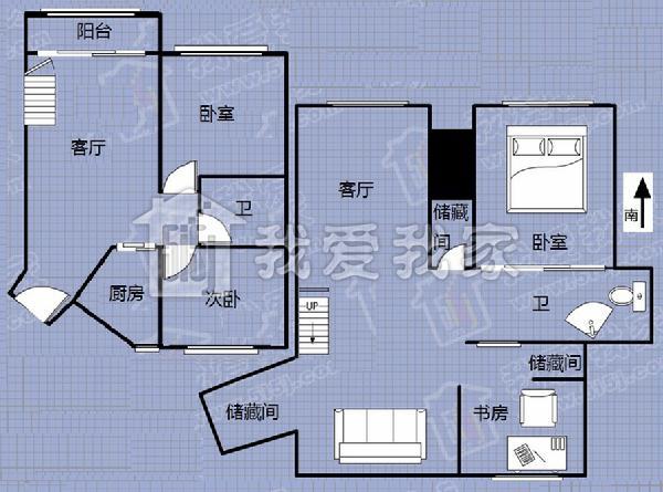 楼房室内鱼池设计图