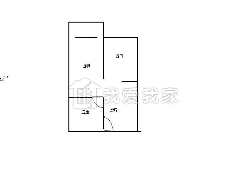 两房一厅户设计图展示