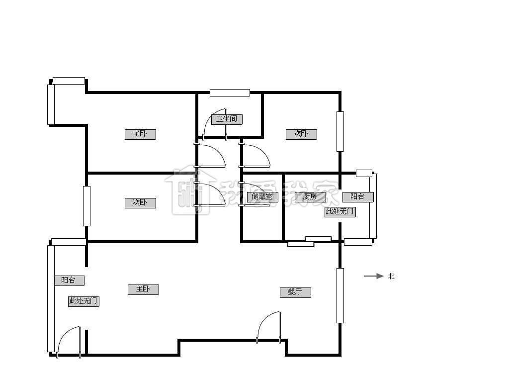 三间房子设计图平房展示