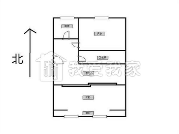 蓝天园经典的长方形两居户型 之前我也卖过这种户型 客厅在中间 可以