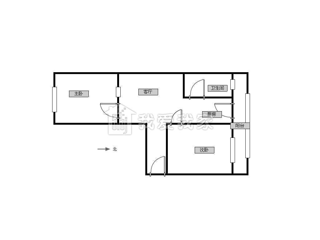 求80平米房子的设计图!三房一厅一厨一卫!加个楼梯可以上二楼.