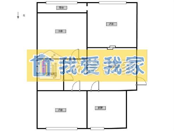 客厅8平米  卫生间面积大5平米  户型紧凑 实用   客厅呈西长方形