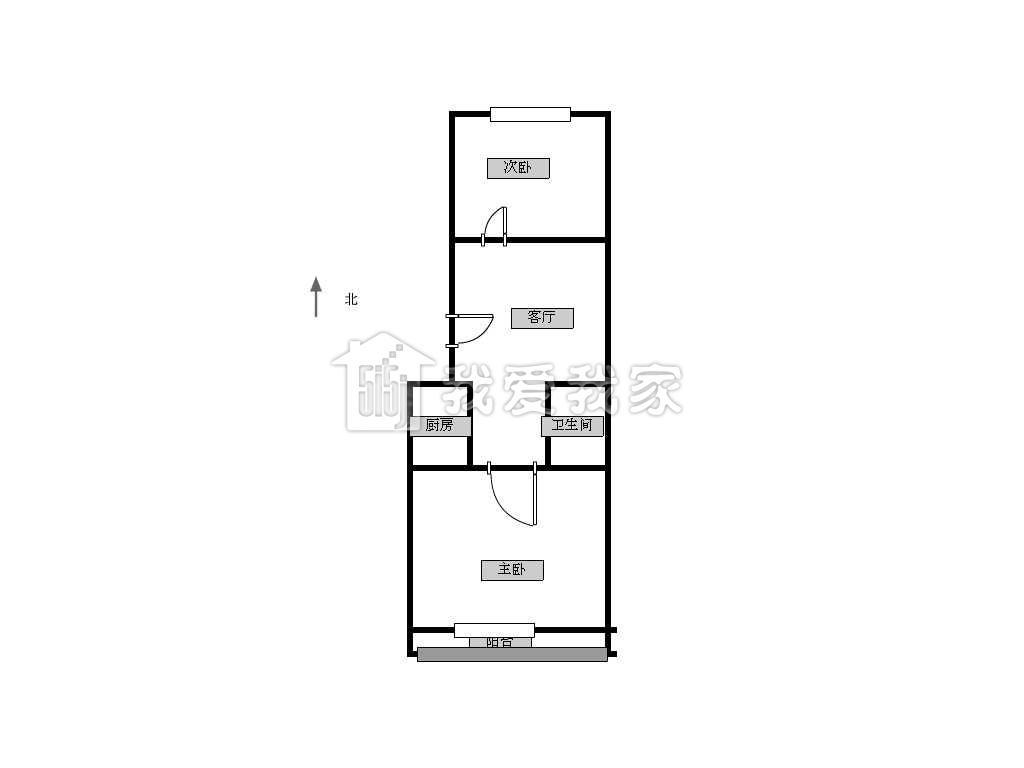 8米*10.5米自建房3房一厅设计图