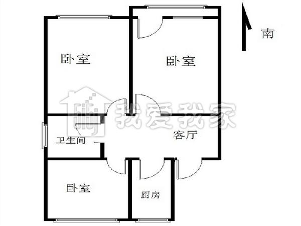 户型 朝向:南北相似朝向 楼层:位于14层上部 所属小区:塔院迎春园本