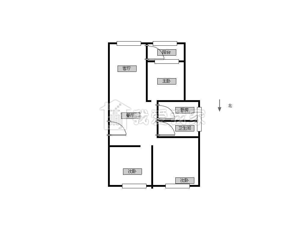 荣盛龙湖半岛-茉莉苑二手房_稀缺户型85万元 普通装修