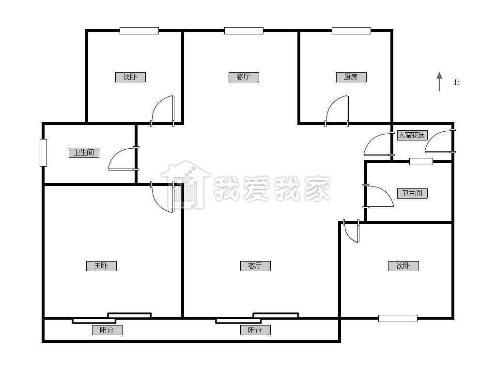 金帝海珀小区 毛坯房 中间楼层 大三房 南北通透