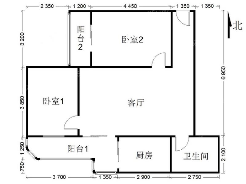 东二环劲松嘉园二室一厅,中高楼层,楼龄新